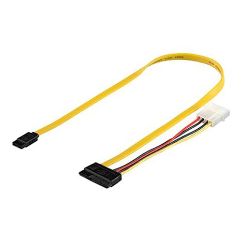 Cable S-ATA Datos + Power SATA a Molex 4-Pin 50cm
