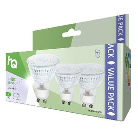 Paquete de 3 bombillas LED GU10 MR16, 3 W, 230 lm, 3000 K | Bombillas