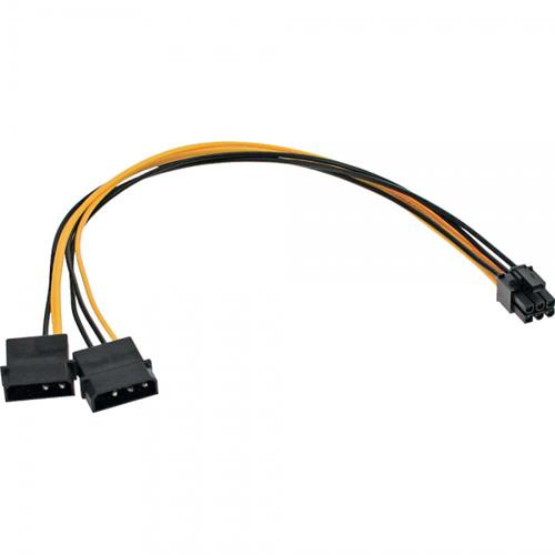 """Inline 26628. Adaptador 2 x 5.25"""""""" a 6pin PCI-Express"""