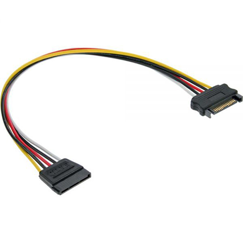 Inline 29651A. Cable alargador alimentación SATA 30cm.