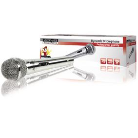 Micrófono dinámico de metal color plata