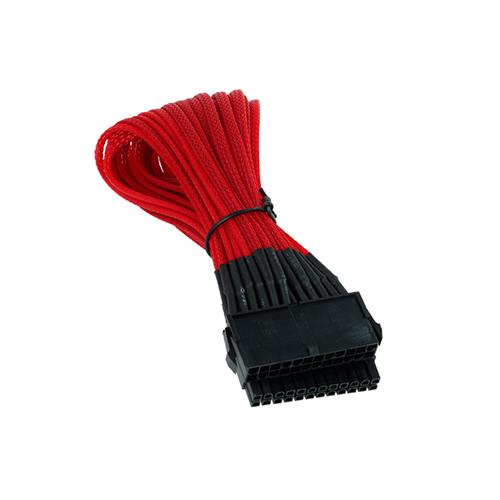 Phobya alargador 24p. Negro/Rojo UV 30cm