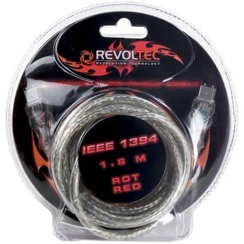 Revoltec RC035. Firewire/IEEE-1394 Flashing Cable de datos, 1,8m, rojo