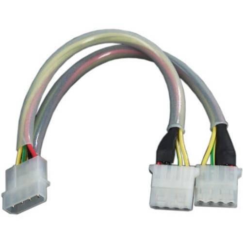 Revoltec RC040. Cable ladrón Molex 4-pin Flashing
