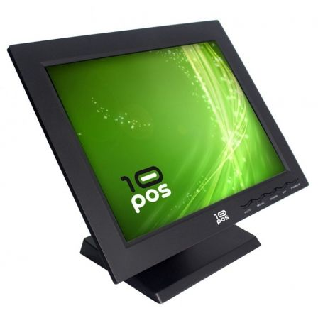 "MONITOR TACTIL 10POS TS-15V - 15""/38.1CM COLOR TACTIL RESISTIVA - 1024X768 - 250CD/M2 - 450:1 - VGA - USB - NEGRO"