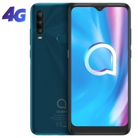 "SMARTPHONE MOVIL ALCATEL 1SE 2020 AGATE GREEN - 6.22""/15.79CM - OC - 3GB RAM - 32GB - CAM (13+5+2)/5MPX - ANDROID 10 - 4G - DUAL 