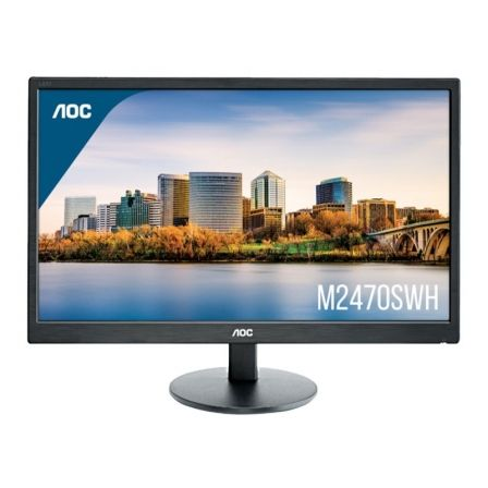 "MONITOR LED MULTIMEDIA AOC M2470SWH - 23.6""/59.9CM - MVA - 1920X1080 FHD - 16:9 - 250CD/M2 - 20M:1 - 5MS - VGA - HDMI - VESA 100"