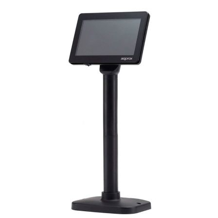 "VISOR LCD APPROX APPLCD02 - 7""/17.78CM COLOR - 800*480 - 25M/S - 450CD/M2 - USB - NEGRO"