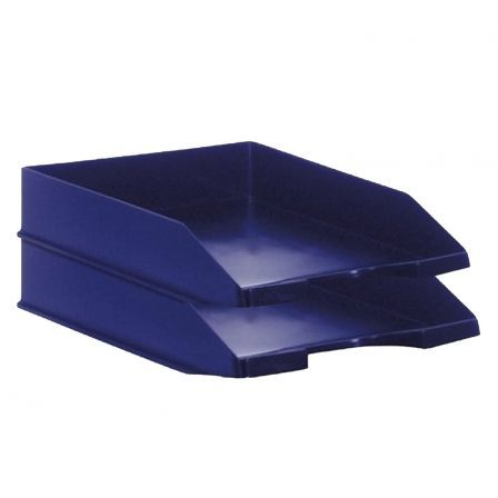 PACK 2 BANDEJAS APILABLES - FONDO LISO - AZUL - 350X258X65 MM - ARCHIVO 2000 |