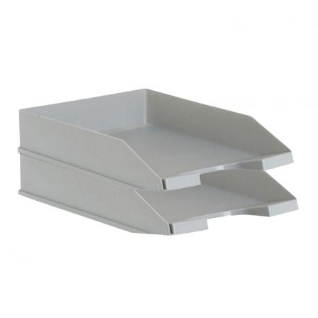 PACK 2 BANDEJAS APILABLES - FONDO LISO - GRIS - 350X258X65 MM - ARCHIVO 2000 |