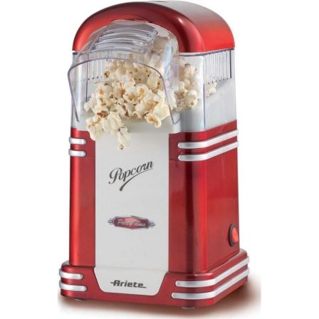MAQUINA DE PALOMITAS DE MAIZ ARIETE POP CORN POPPER PARTY TIME 2954 - 1100W - COCCION POR AIRE CALIENTE - CUCHARA MEDIDORA - FAC