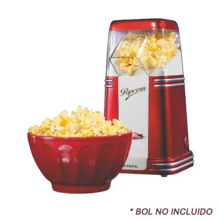 MAQUINA DE PALOMITAS DE MAIZ ARIETE POP CORN POPPER PARTY TIME - 1100W - COCCION POR AIRE CALIENTE - FACIL DE LIMPIAR