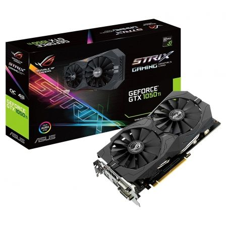 TARJETA GRAFICA ASUS GEFORCE STRIX GTX1050 TI OC - GPU 1379/1493MHZ - 4GB GDDR5 - PCI EXPRESS 3.0 - 2X DVI-D - HDMI - DISPLAY PO
