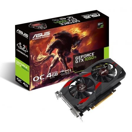 TARJETA GRAFICA ASUS GEFORCE CERBERUS GTX1050TI O4G - 4GB GDDR5 - PCI EXPRESS 3.0 - DVI-D - HDMI - DISPLAY PORT