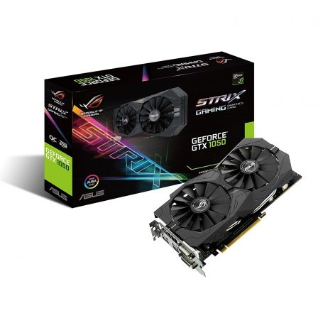 TARJETA GRAFICA ASUS ROG STRIX-GTX1050-OC2-GAMING - GPU 1455MHZ - 2GB GDDR5 - PCI EXPRESS 3.0 - 2XDVI-D - HDMI - DISPLAY PORT