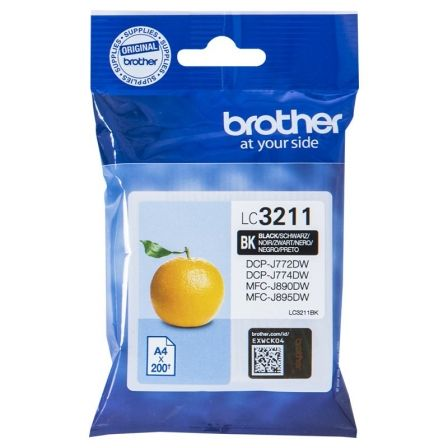CARTUCHO DE TINTA NEGRO BROTHER LC3211BK - 200 PAGINAS - COMPATIBLE SEGUN ESPECIFICACIONES | Consumibles brother