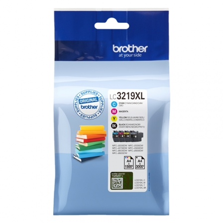 PACK 4 CARTUCHOS DE TINTA BROTHER LC3219XL - NEGRO/CIAN/MAGENTA/AMARILLO - HASTA 3000PAG/NEGRO - HASTA 1500PAG/COLOR | Consumibles brother