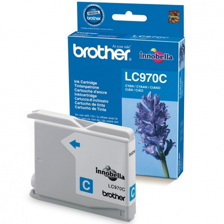 CARTUCHO TINTA BROTHER LC-970 300 PAGINAS CIAN