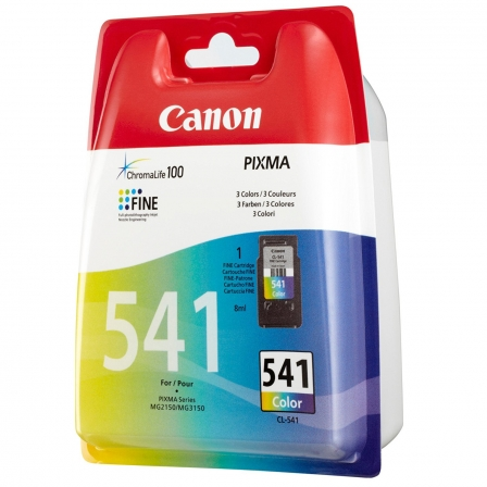 CARTUCHO DE TINTA A COLOR  CANON CL-541 CHROMA LIFE100 - CIAN / MAGENTA / AMARILLO - 8ML - 180 PAGINAS A4 | Consumibles canon