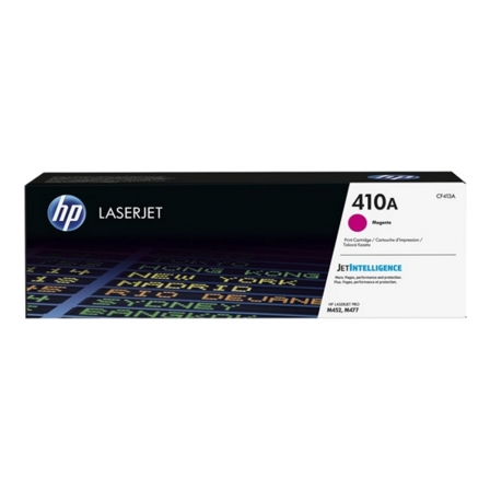 TONER MAGENTA HP CF413A JETINTELLIGENCE - N410A - 2300 PAGINAS - COMPATIBLE CON LASERJET M452DN/NW / M477FDN/FDW/FNW | Toner hp