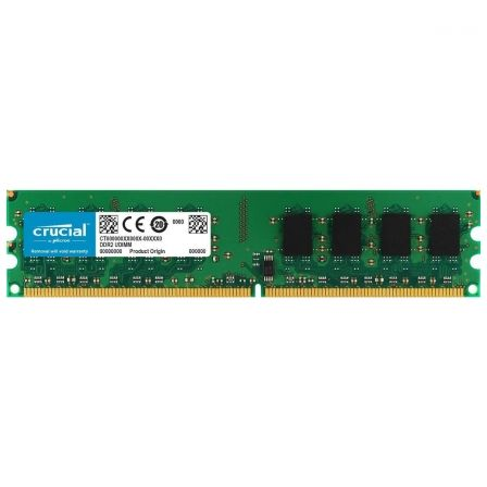 MEMORIA CRUCIAL CT25664AA800 2GB DDR2-800 - CL6 - 1.8V - 240 PINES - UDIMM