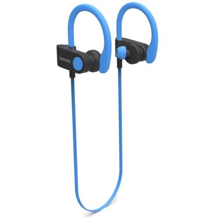 AURICULARES INTRAUDITIVOS BLUETOOTH DENVER BTE-110 BLUE - BT 4.2 - BATERIA RECARGABLE - MICROUSB - FUNCION MANOS LIBRES