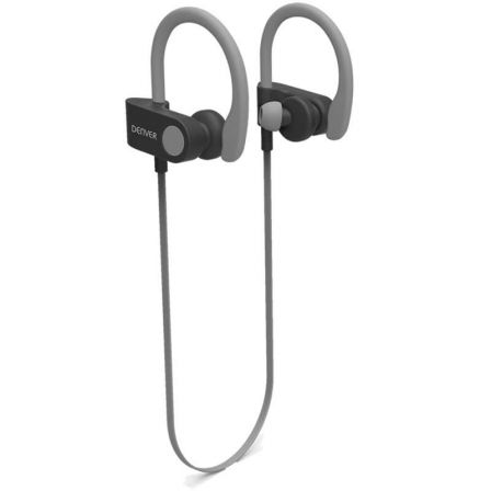 AURICULARES INTRAUDITIVOS BLUETOOTH DENVER BTE-110 GREY - BT 4.2 - BATERIA RECARGABLE - MICROUSB - FUNCION MANOS LIBRES