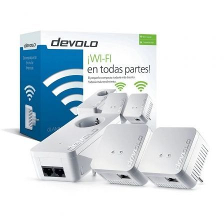 PLC/POWERLINE DEVOLO DLAN 550 WIFI NETWORK - PACK 3 UNIDADES (550 DUO+ / 2* 550 WIFI) - HASTA 500MBPS CABLE/300MBPS WIFI - WIFI