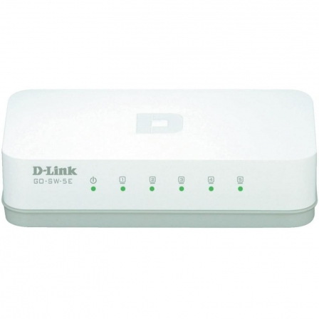 SWITCH DLINK GO-SW-5E - 5 PUERTOS RJ45 - 10/100 - HALF/FULL DUPLEX - BLANCO | Switchs