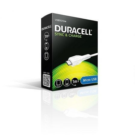 CABLE DURACELL USB MACHO A MICRO USB -1 METRO - BLANCO | Cable usb