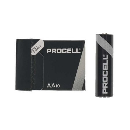 PACK 10 PILAS AA (LR6) DURACELL PROCELL ID1500IPX10 - ALCALINA (ZN/MNO2) - 1.5V - 3,016MAH | Pilas de consumo