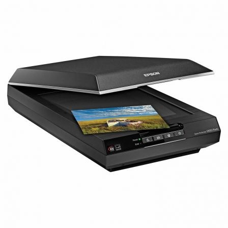 ESCANER DE SUPERFICIE  PLANA EPSON PERFECTION V600 A4 48/16 BIT USB 2.0 12800DPII