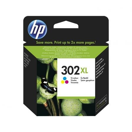 CARTUCHO COLOR HP N302XL - 330 PAGINAS - PARA  OFFICEJET 3830 / 3832 / 3630 / DESKJET 1110 / 2130 / ENVY 4520 / 4650 | Consumibles hp