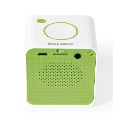 ALTAVOZ PORTATIL FONESTAR RU-33V VERDE - 3W - INCLUYE RECEPTOR BLUETOOTH - RADIO FM - MP3 - RANURA MICRO SD - JACK 3.5MM - BATER | Altavoces bluetooth (bt)