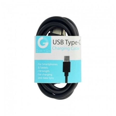 CABLE USB A USB TIPO-C GRAB'N GO GNG-136 - 1 METRO - NEGRO