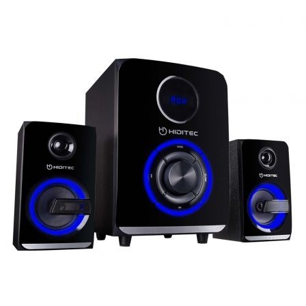 "ALTAVOCES 2.1 CON BLUETOOTH HIDITEC H500 - 50W RMS - SUBWOOFER 5.25""/13.3CM - SATELITES 3""/7.62CM - LECTOR USB/SD - AUDIO-IN - R 
