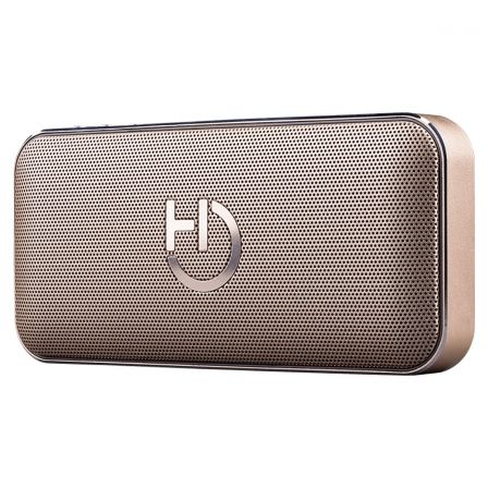 ALTAVOZ BLUETOOTH HIDITEC HARUM GOLD - 10W RMS - BT4.1 - LECTOR MICROSD - BAT 2200MAH - FUNCION POWERBANK - FUNCION MANOS LIBRES
