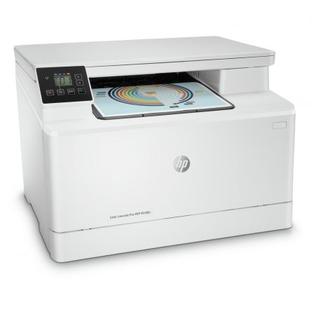MULTIFUNCION HP LASER COLOR PRO M180N - 27/21PPM - SCAN 1200X1200PPP - ETHERNET - EPRINT - AIRPRINT - TONER 204A BK/C/M/Y 205A B | Multifunciones laser color