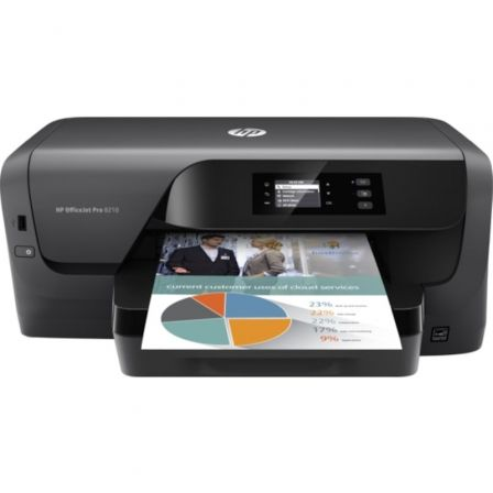 IMPRESORA HP WIFI OFFICEJET PRO 8210 - 22/18 PPM ISO - 1200X1200PPP - DUPLEX - EPRINT/AIRPRINT - USB2.0 - ETHERNET - CART. 953 B |