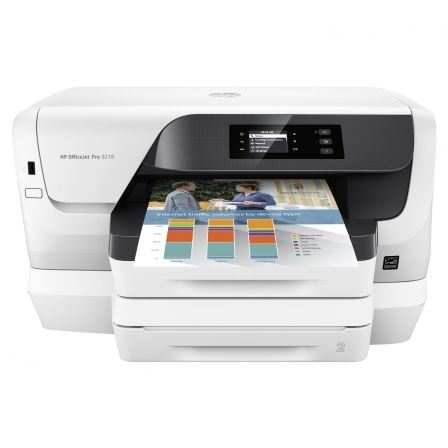 IMPRESORA HP WIFI OFFICEJET PRO 8218 - 20/16 PPM ISO - DUPLEX - EPRINT/AIRPRINT - USB2.0 - ETHERNET - CART. 953 BK/C/M/Y /XL