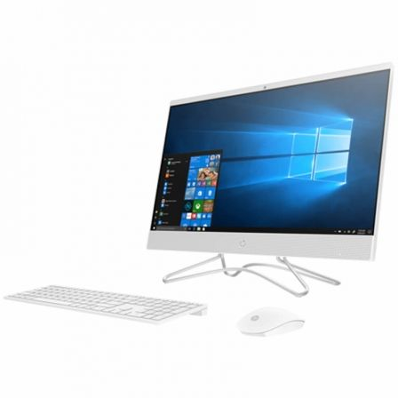 "PC ALL IN ONE HP 22-C0211NS - INTEL J4005 2GHZ - 4GB - 1TB - 21.5""/54.6CM FHD - WIFI - HDMI - BT - TEC+RATON - W10 - BLANCO NIEV 