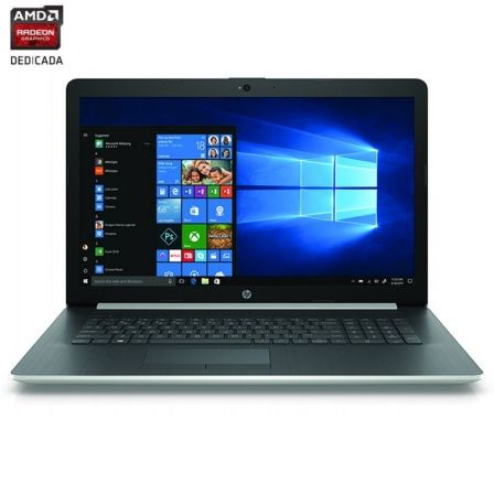 "PORTATIL HP 17-BY1000NS - I5-8265U 1.6GHZ - 8GB - 256GB SSD - AMD RADEON 520 2GB - 17.3""/43.9CM HD+ - DVD RW - HDMI - BT - W10 - 