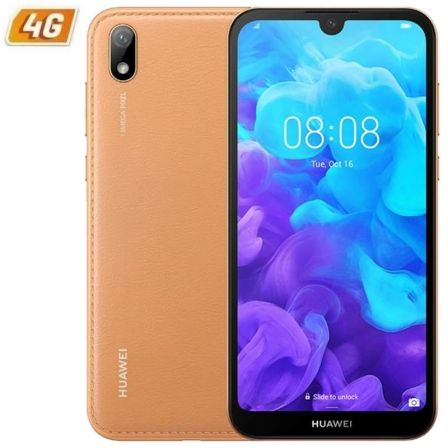 "SMARTPHONE MOVIL HUAWEI Y5 2019 AMBER BROWN - 5.71""/14.5CM - CAMARA 13/5MP - QC 2.0GHZ - 16GB - 2GB RAM - ANDROID 9 - 4G - DUAL 