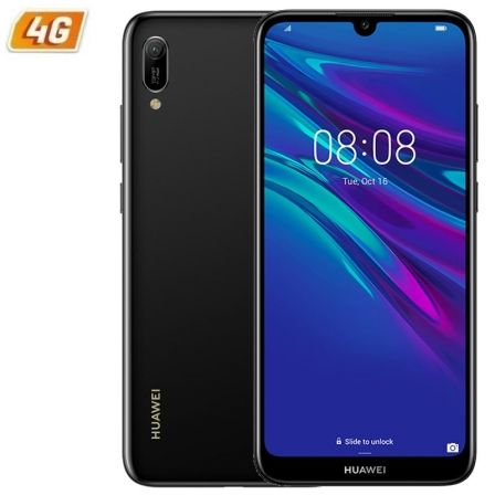 "SMARTPHONE MOVIL HUAWEI Y6 2019 BLACK - 6.09""/15.46CM - CAMARA 13/8MP - QC 2.0GHZ - 32GB - 2GB RAM - ANDROID 9 - 4G - DUAL SIM - 