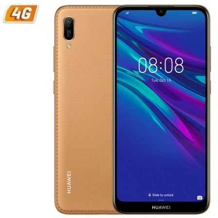 "SMARTPHONE MOVIL HUAWEI Y6 2019 BROWN- 6.09""/15.46CM - CAMARA 13/8MP - QC 2.0GHZ - 32GB - 2GB RAM - ANDROID 9 - APPGALLERY - 4G 