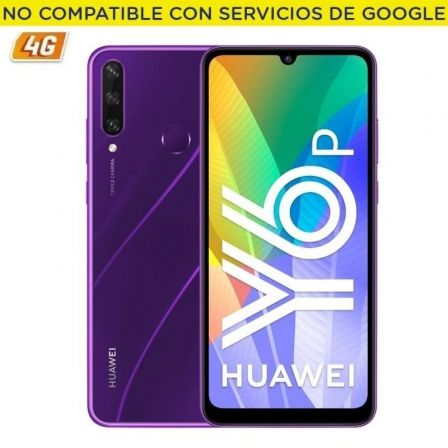 "SMARTPHONE MOVIL HUAWEI Y6P PHANTOM PURPLE - 6.3""/16CM - CAM (13+5+2)/8MP - OC - 64GB - 3GB RAM - 4G - DUAL SIM - ANDROID 10 - B 