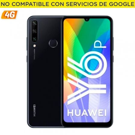 "SMARTPHONE MOVIL HUAWEI Y6P MIDNIGHT BLACK - 6.3""/16CM - CAM (13+5+2)/8MP - OC - 64GB - 3GB RAM - 4G - ANDROID 10 AOSP - APPGALL 