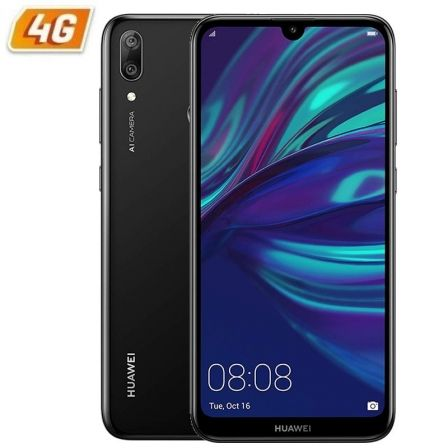 "SMARTPHONE MOVIL HUAWEI Y7 2019 BLACK - 6.26""/15.9CM - CAMARA 8MP/(13+2MP) - OC 1.8GHZ - 32GB - 3GB RAM - DUAL SIM - ANDROID 8.1 