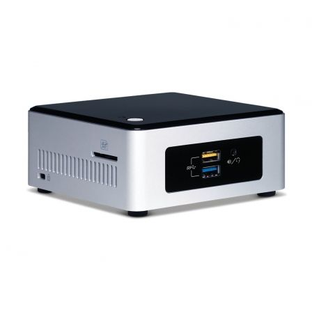 MINI PC INTEL NUC5CPYH - INTEL N3050 1.6GHZ - NO RAM - NO HDD - 4XUSB3.0 - HDMI/VGA - LAN - WIFI - BT4.0 - NO S.O. - PLATA/NEGRO | Mini pc