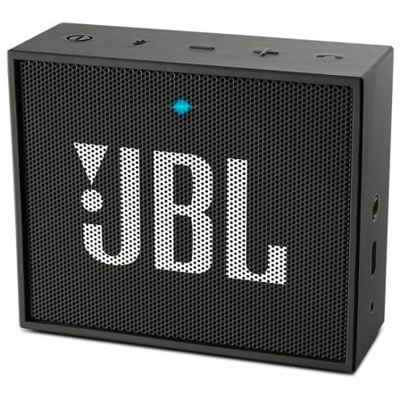 ALTAVOZ BLUETOOTH JBL GO BLACK - 3W - BT4.1 - AUDIO IN - BATERIA RECARGABLE 600MAH - FUNCION MANOS LIBRES | Altavoces bluetooth (bt)